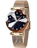 CIVO Damenuhr Rosegold Glitzer Armbanduhr Damen Analog Quarz mit Wasserdicht Damenuhr Designer Uhren