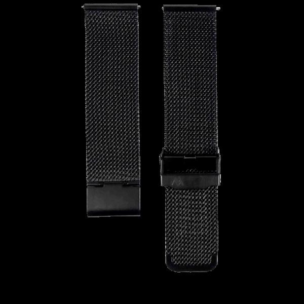 schwarzes Milanaise Mesharmband in 22mm von MNMA