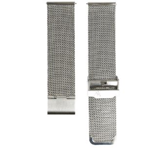 silberes Milanaise Mesharmband in 22mm von MNMA