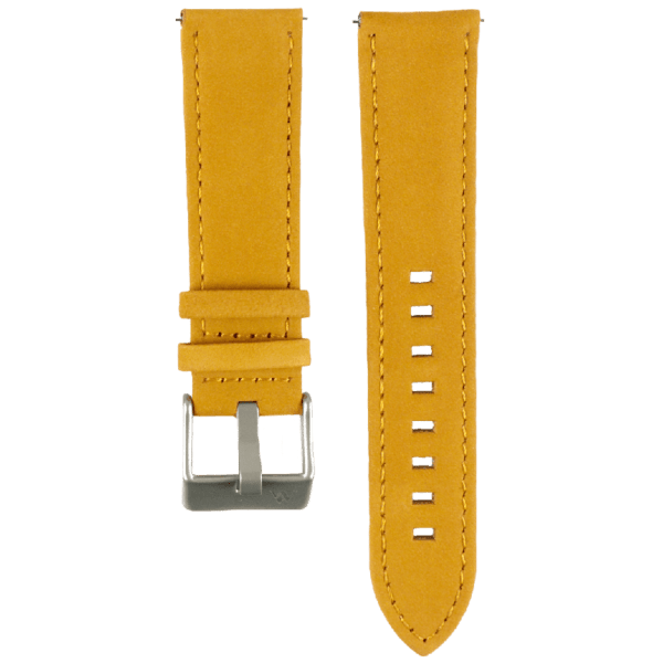 Lederarmband 22mm breit Wechselarmband in senfgelb