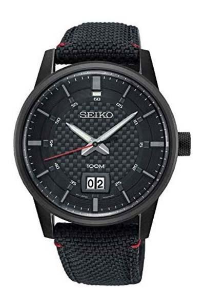 Schwarze Uhr von SEIKO